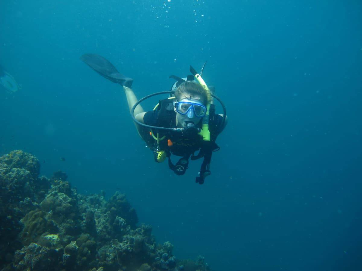 Open water or advanced dive site